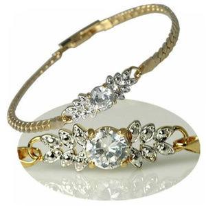 NWT cz tennis bracelet 7 1/2 multi cluster yellow